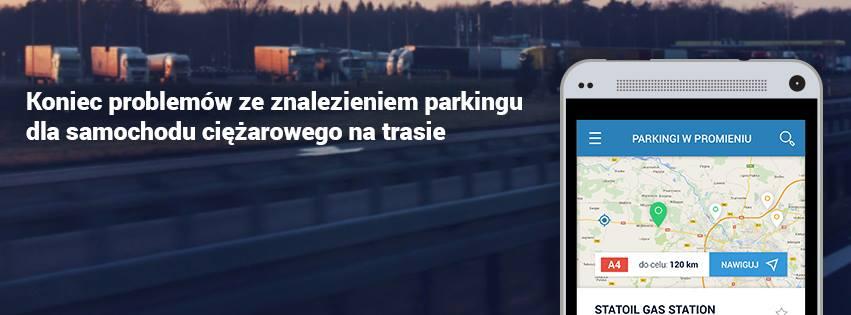 Znajdź parking na trasie z darmową aplikacją