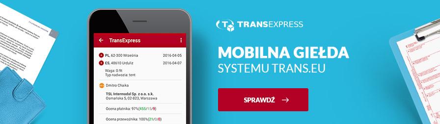transexpress darmowa giełda transportowa na telefon