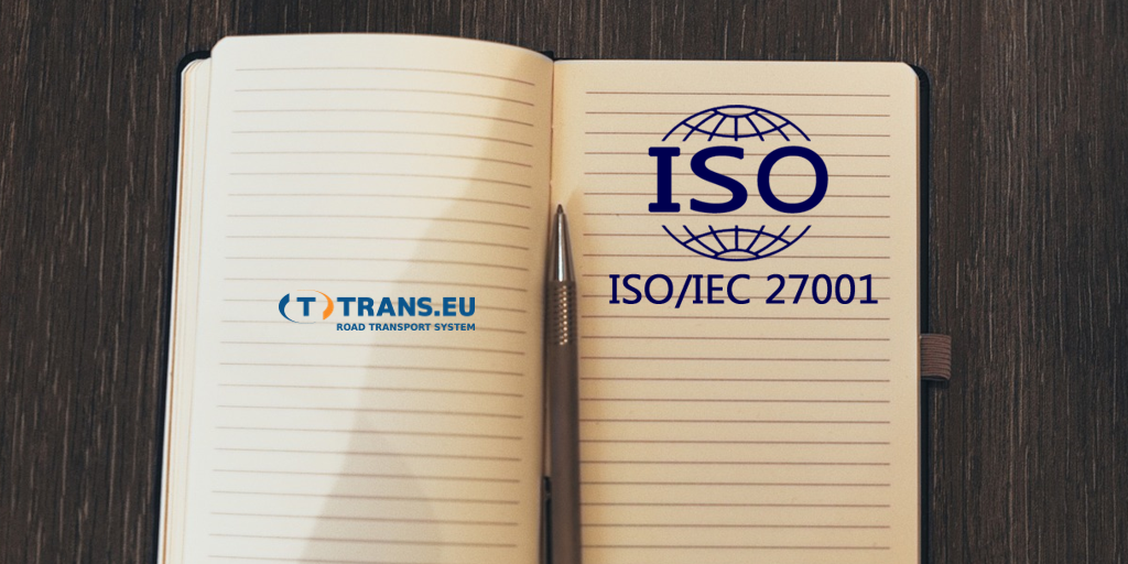 Trans.eu with the ISO 27001 certificate