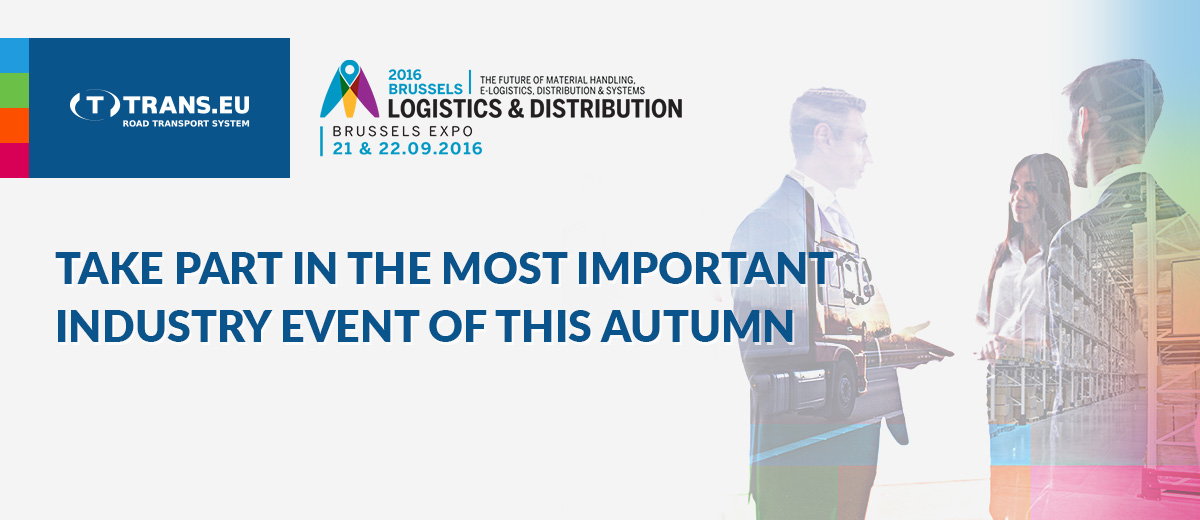 See you at Logistics & Distribution 2016!