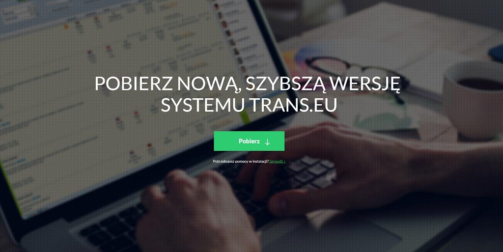 Ważne: 1.10. wyłączymy stare wersje Systemu Trans.eu. Sprawdź, czy powinieneś zaktualizować swój program