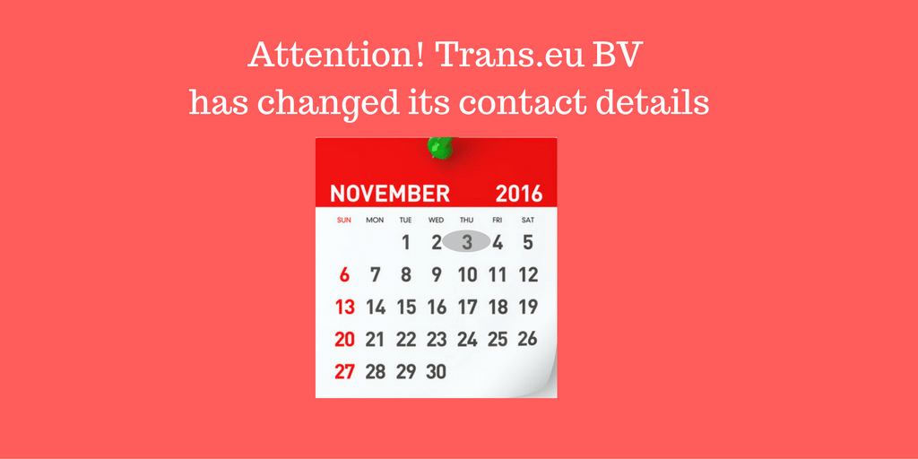 The new address of Trans.eu BV