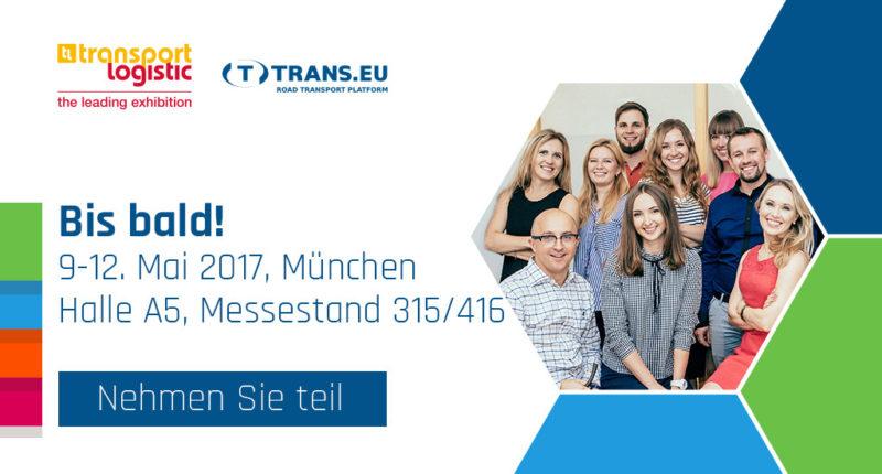 Bis bald auf der Transport Logistic in München 9-12. Mai 2017