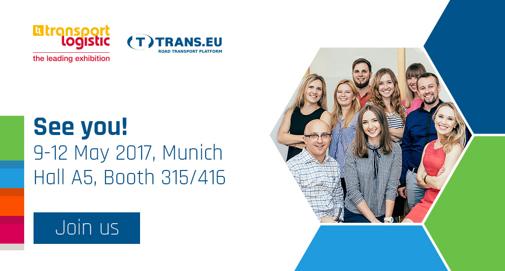Let's meet at Transport Logistic in Munich, 9-12 May 2017