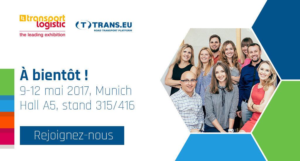 Retrouvez-nous à Transport Logistic à Munich le 9-12 mai 2017