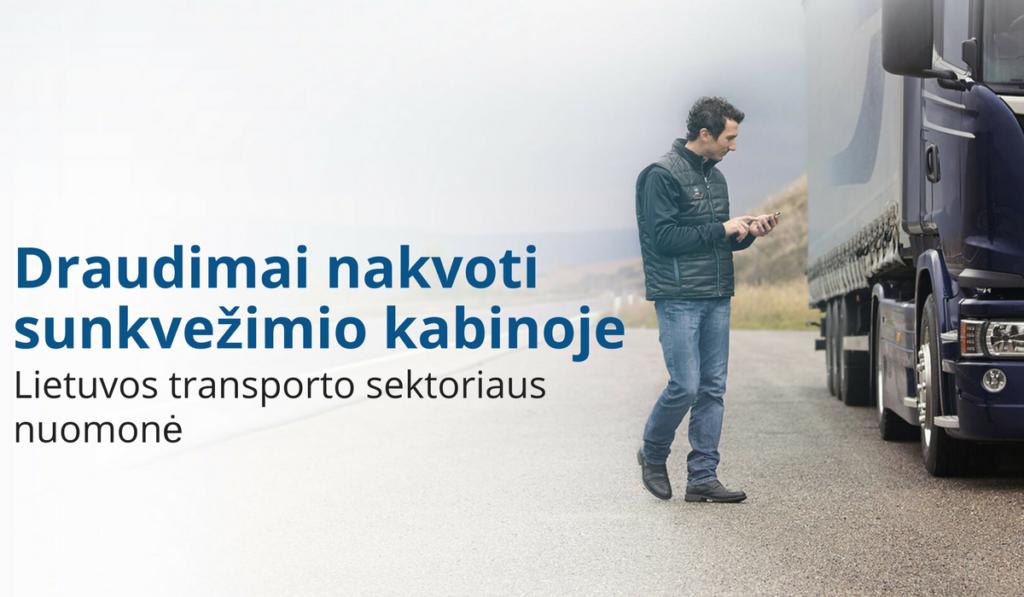 Draudimas nakvoti sunkvežimio kabinoje. Lietuvos transporto sektoriaus nuomonė (1)