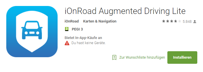 iOnRoad Augmented Driving Lite – Android-Apps auf Google Play