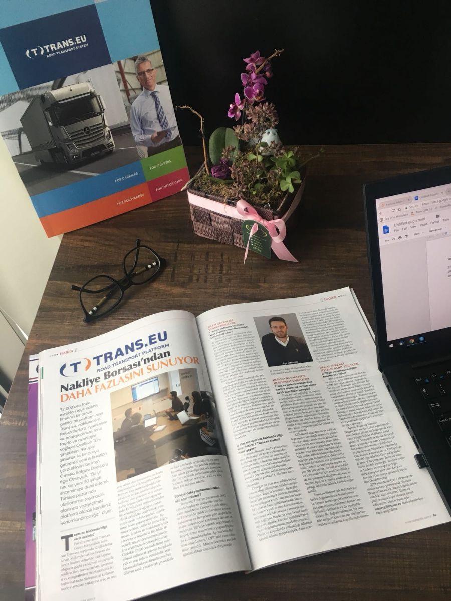 Trans.eu Platform UTA Lojistik Dergisi Mart Sayısında
