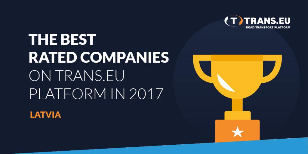 TOP10 компаний с наилучшим рейтингом в Платформе Trans.еu в 2017 году – Латвия