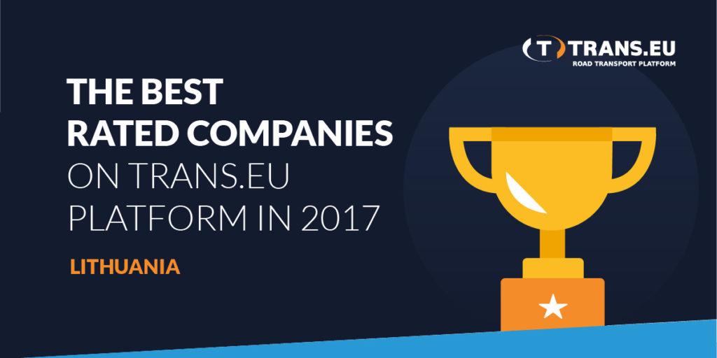 Trans.eu Platformoje 2017 metais geriausiai vertinamų įmonių TOP10 – Lietuva