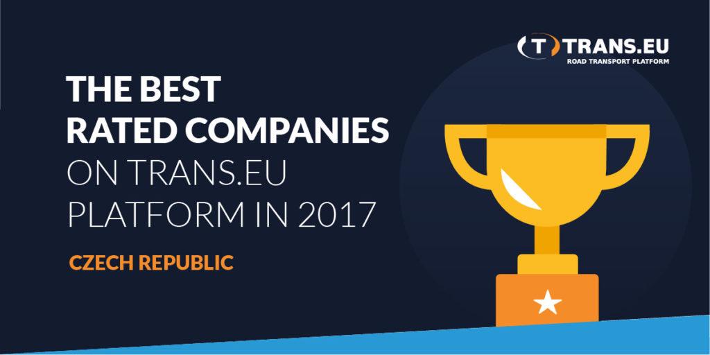 TOP10 Nejlépe oceňované firmy na Platformě Trans.eu v roce 2017 – Česká republika