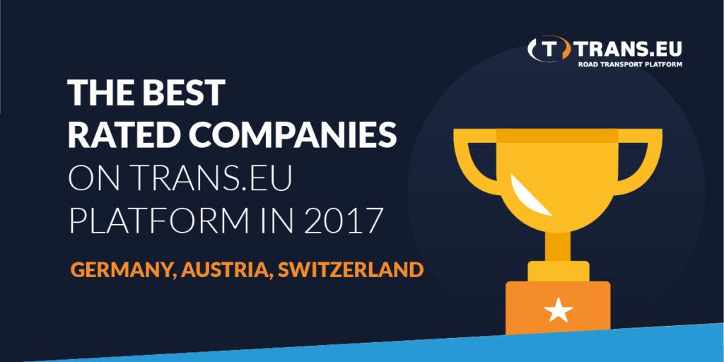 TOP10 Bestbewerteter Unternehmen bei der Trans.eu Plattform im Jahr 2017