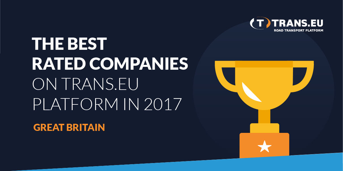 TOP10 of the best rated companies on the Trans.eu Platform in 2017