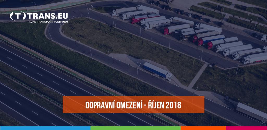 Dopravní omezení u sousedů pro nákladní vozidla (říjen 2018)
