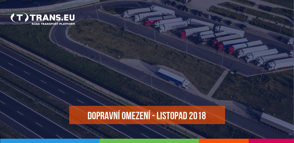 Dopravní omezení u sousedů pro nákladní vozidla (listopad 2018)