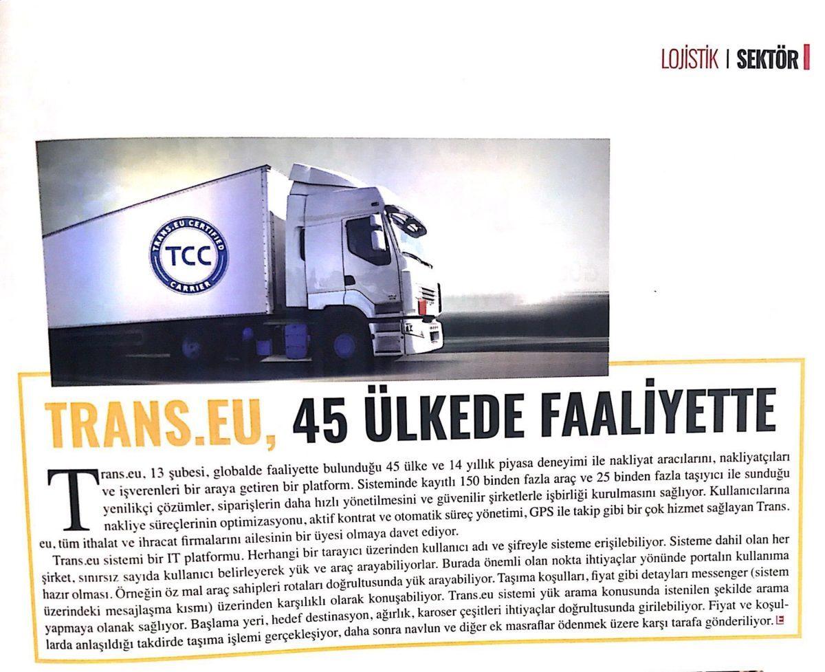 Trans.eu, Ekovitrin Dergisi'nin Ekim Sayısında!