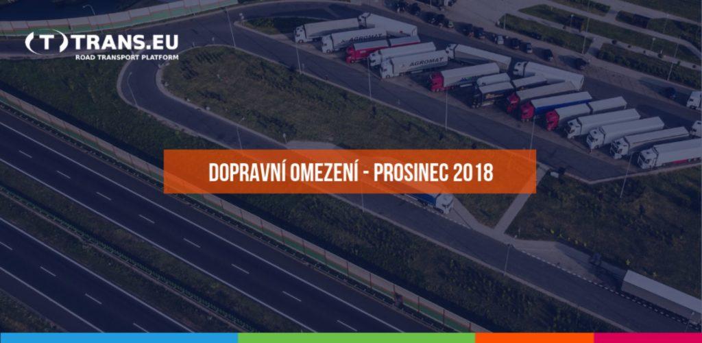 Dopravní omezení u sousedů pro nákladní vozidla (prosinec 2018)