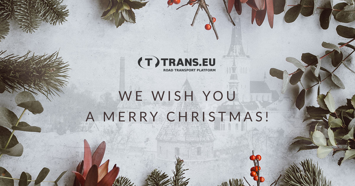 We wish you a Merry Christmas and a successful New Year!