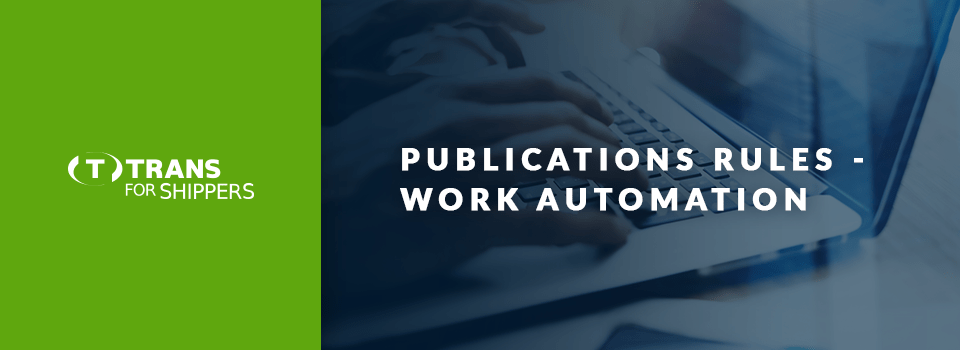 Automatic selection of carriers. How do TfS publication rules work?