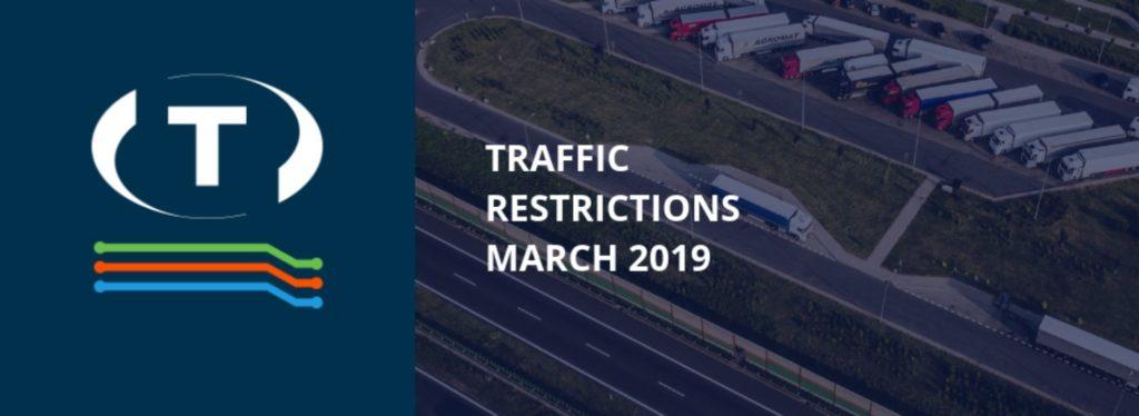 Teherautókra vonatkozó forgalmi korlátozások a szomszédos országokban (2019 március)