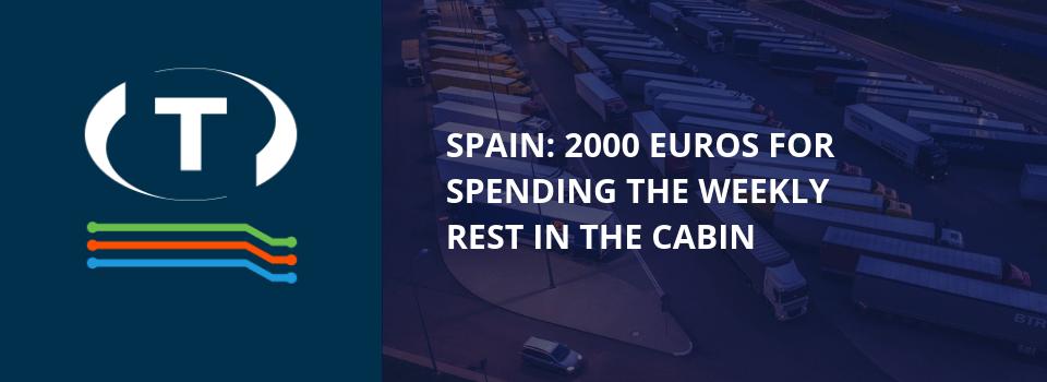 Španělsko: 2000 eur za týdenní odpočinek v kabině