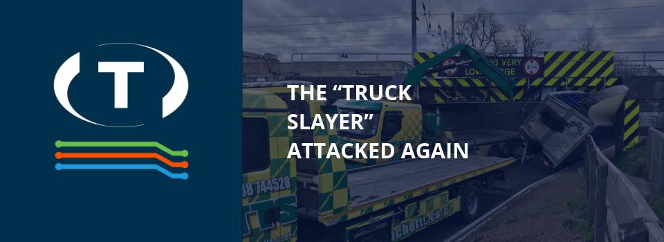 """""""Truck Slayer"""" znovu zaútočil. Nízký most poškodil nejméně 120 vozidel za 10 let."""