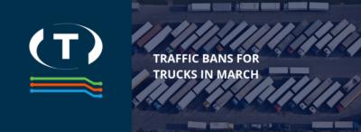 Dopravné zákazy pre nákladné automobily v marci