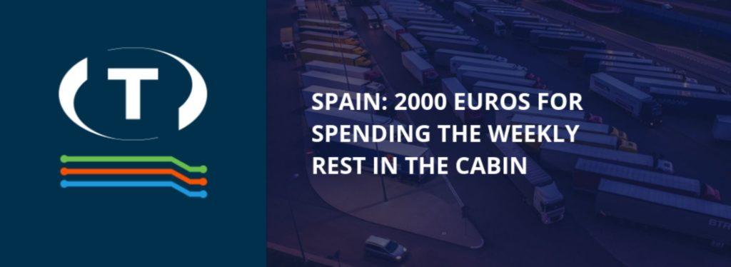 Hatályba lépet a 2000 eurós büntetés a heti pihenőidő kabinban  töltéséért Spanyolországban