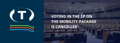 Hlasování v Evropském parlamentu o balíčku mobility se ruší