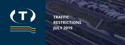 Dopravní omezení u sousedů pro nákladní vozidla (červenec 2019)