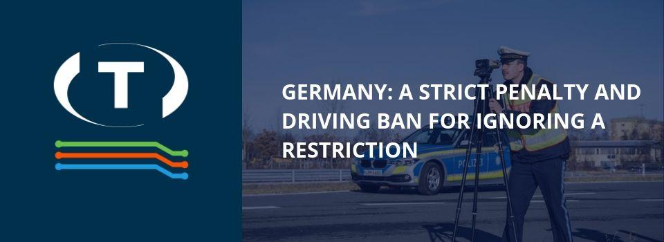 Německo: přísný trest a zákaz řízení vozidla za ignorování omezení