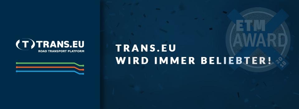 Trans.eu wird immer beliebter!