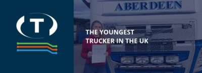 Má osmnáct, studuje módu a je nejmladší trucker ve Velké Británii