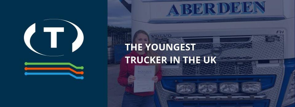 Az Egyesült Királyság legfiatalabb teherautó sofőrje egy 18 éves divattervező diáklány