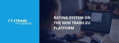 Hogyan működik az értékelési rendszer az új Trans.eu rendszerben?
