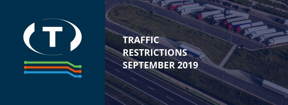 Dopravní omezení u sousedů pro nákladní vozidla (září 2019)