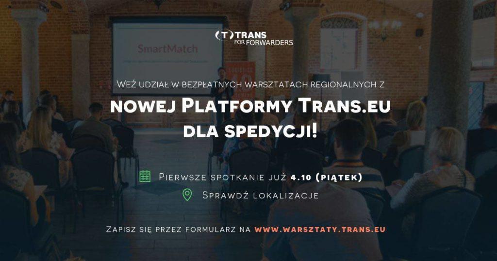 Poznaj nową Platformę Trans.eu na bezpłatnych warsztatach dla spedycji!