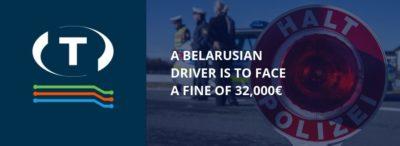 Bieloruský vodič musí zaplatiť pokutu 32 000€. Pravidelne jazdil 16 a viac hodín.
