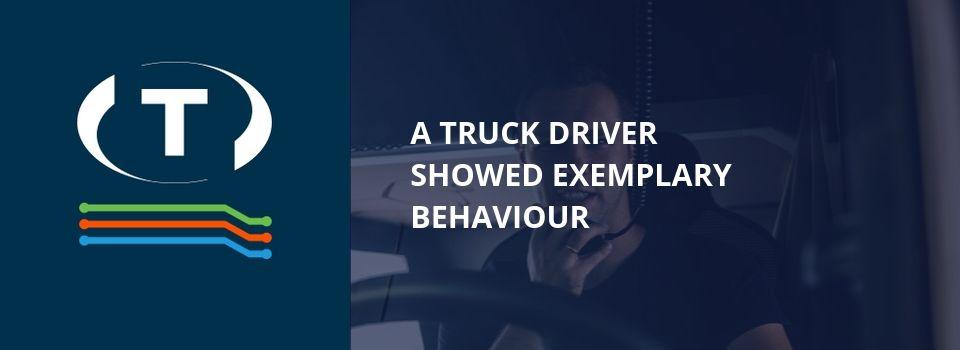 Řidič kamionu ukázal příkladné chování, ale někteří lidé mu sprostě nadávali