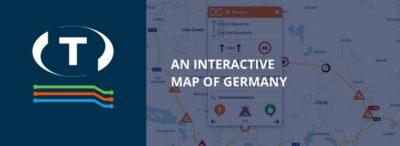 Interaktivní mapa Německa se všemi probíhajícími silničními prácemi na dálnicích