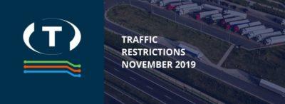 Teherautókra vonatkozó forgalmi korlátozások a szomszédos országokban (2019 November)
