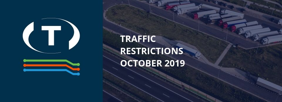 Teherautókra vonatkozó forgalmi korlátozások a szomszédos országokban (2019 Október)