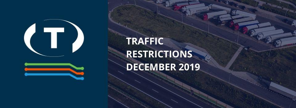 Dopravní omezení u sousedů pro nákladní vozidla (prosinec 2019)
