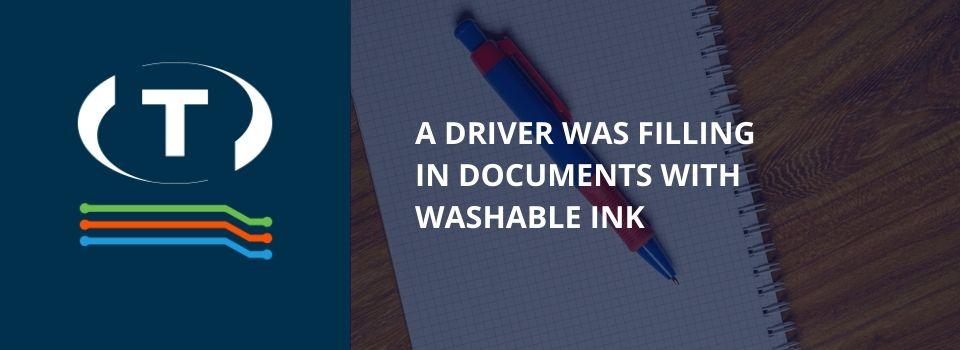 Řidič vyplňoval dokumenty omyvatelným inkoustem. Mnohokrát použil stejné povolení.