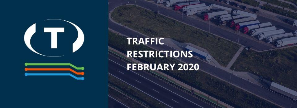 Teherautókra vonatkozó forgalmi korlátozások a szomszédos országokban (2020 Február)