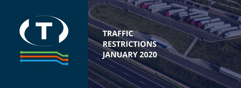 Teherautókra vonatkozó forgalmi korlátozások a szomszédos országokban (2020 Január)