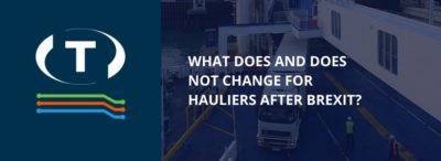 Co se pro dopravce po Brexitu mění a nemění?