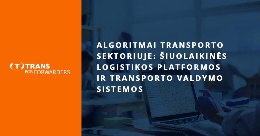 Algorimtai transporto sektoriuje 2