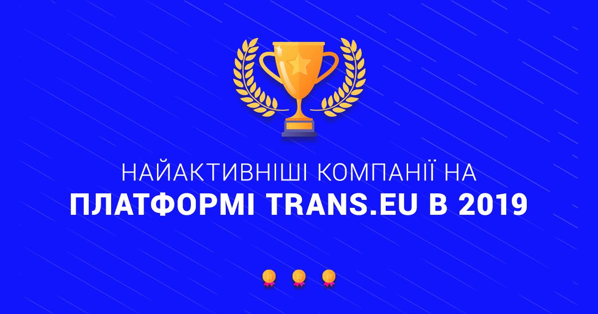 TOП 10 найбільш активних компаній на Платформі Trans.eu. Україна