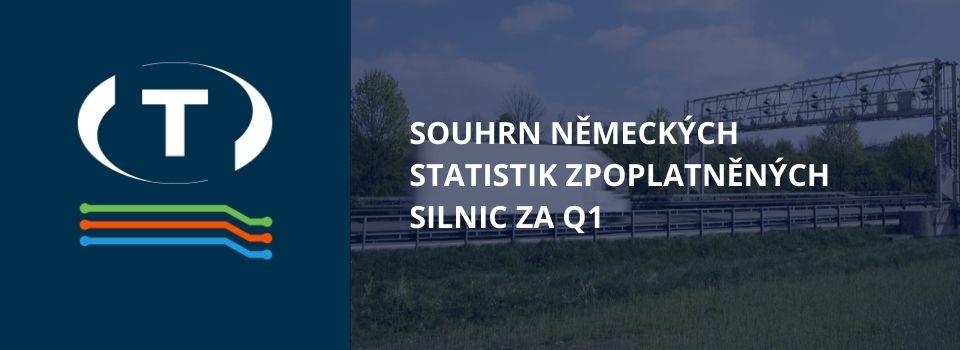 Souhrn německých statistik zpoplatněných silnic za Q1. Po Německu následují polské, české a rumunské nákladní vozidla